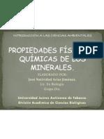 PROPIEDADES FÍSICAS Y QUÍMICAS DE LOS MINERALES