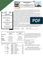 St. Joseph's March 18, 2012 Bulletin