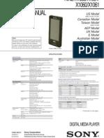 SONY NWZ X1000 Service Manual