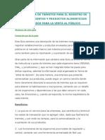 GUÍA RÁPIDA DE TRÁMITES PARA EL REGISTRO DE ESTABLECIMIENTOS Y PRODUCTOS ALIMENTICIOS ENVASADOS PARA LA VENTA AL PÚBLICO