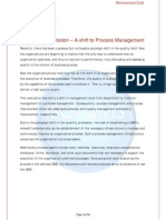 QMS Implementation- A Shift to Process Management