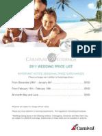Wedding Price List