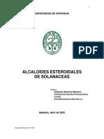 Alcaloides Esteroidales de as