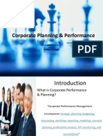 Corporate Performance and Planning