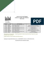 Jadual Pengajian 2012