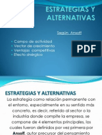 ESTRATEGIAS Y ALTERNATIVAS