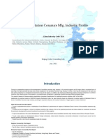 China Sanitation Ceramics Mfg. Industry Profile Cic3151