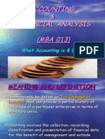 Presentation in Accounting & Financial Analysis (013)