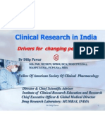 Dr Dilip Pawar - Clinical Research in India