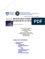 Renewable Energy Business Plan Template
