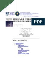 Renewable Energy Business Plan Template