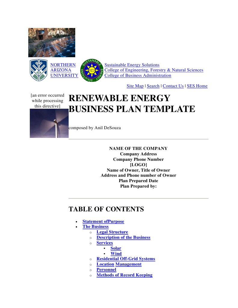 Renewable Energy Business Plan Template | Kilowatt Hour | Depreciation
