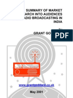 'Summary Of Market Research Into Audiences For Radio Broadcasting In India' by Grant Goddard