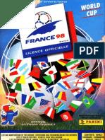 Album Cromos Panini - Mundial Futbol Francia 1998