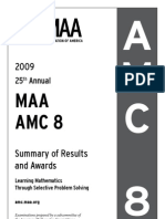 2009AMC8Summary