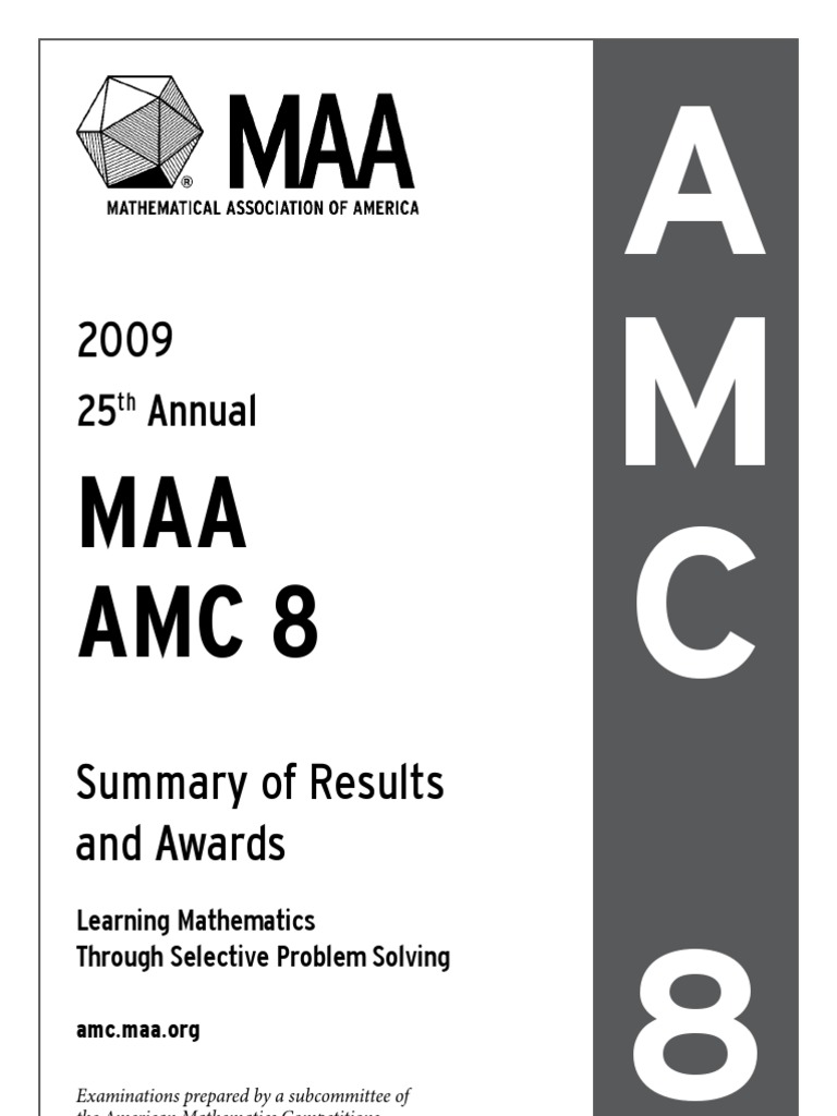 MAA Amc 8: 25 Annual