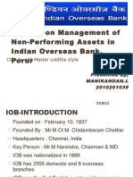 A Study on Management of Non-Performing Assets in IOB