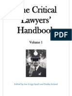 The Critical Lawyers Handbook Volume 1