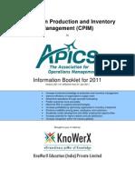 KEI APICS CPIM Information Booklet 2011.01
