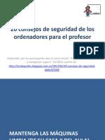 20 Consejos Para Profesores Sobre Seguridad