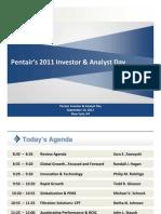 Pentair 2011 Investor Day Presentations Sm