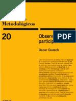 52293209 Cuadernos Metodologicos Observacion Participante