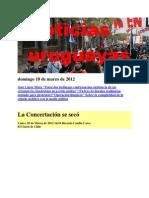 Noticias Uruguayas Domingo 18 de Marzo de 2012
