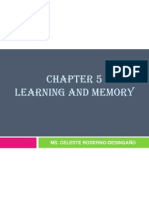 Lecture in GenPsych CHAPTER 5 Learning and Memory