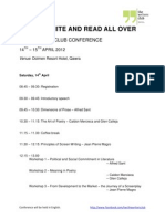 Conference Program - Black, White and Read All Over