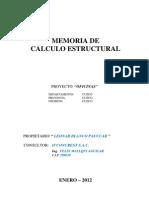 Memoria de Calculo Estructuras Cuzco