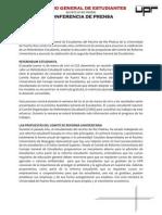 Conferencia de Prensa - Referéndum- Propuestas CRU - 2da Asamblea Estudiantes