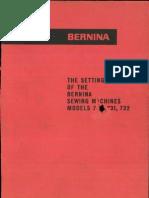 Bernina 730 731 732 Setting Manual