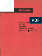 Bernina 730 731 732 Setting Manual