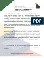 BUENAS PRÁCTICAS DE FABRICACIÓN svhd2005