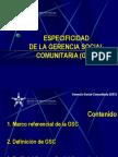 (1) Introducción a la Gerencia Social Comunitaria