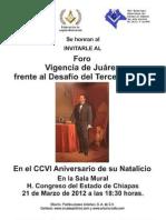 VIGNCIA DE JUAREZ FRENTE AL DESAFIO DEL TERCER MILENIO