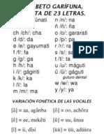 El Alfabeto Garifuna