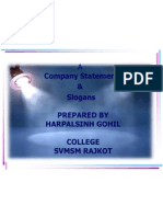 Company Statements  &  Slogans BY HARPALSINH GOHIL