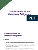 Clasificacion de Materiales Peligrosos - Normas chilenas oficiales