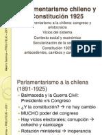 Parlamentarismo chileno y Constitución 1925