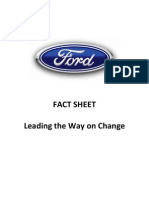 Ford Fact Sheet - Progress