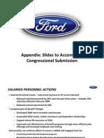 Congressional Submission Appendix
