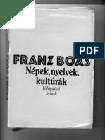 Franz Boas_Korai Kulturalis Vonasok
