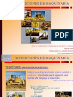 DEFINICIONES DE MAQUINARIA