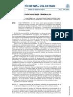 Orden HAP/537/2012, modelo para solicitar el cobro de facturas pendientes a las Administraciones Públicas