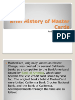 Brief History of Master Cards