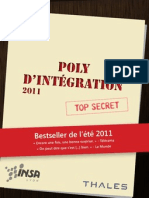 Poly d'intégration IF 2011
