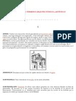 Vocabulario arquitectonicos