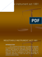 Negotiable Instrument Act 1881