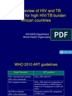 HIV/TB African Guidelines - World Health Organization Presentation 2010